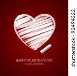 hand drawn heart shape. vector...   Shutterstock .eps vector #92494222