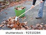 Working Hands Sweeping Autumn...