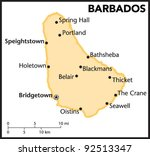 barbados country map | Shutterstock .eps vector #92513347