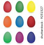 easter eggs   Shutterstock .eps vector #9251527