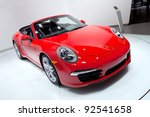 Постер, плакат: 2013 Porsche 911 Cabriolet