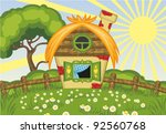 summer vector landscape with...