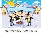 groundhog day | Shutterstock .eps vector #92574235