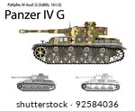 german ww2 panzer iv g with... | Shutterstock .eps vector #92584036
