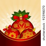 christmas balls decoration... | Shutterstock .eps vector #92598070