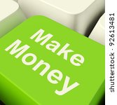 make money computer key in...   Shutterstock . vector #92613481