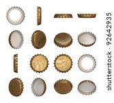 a worn golden crown cap in... | Shutterstock . vector #92642935