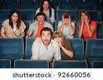 scared group of people scream... | Shutterstock . vector #92660056