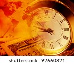 Time And Money. Finance Concept.
