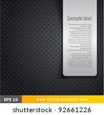 speaker grill texture black... | Shutterstock .eps vector #92661226