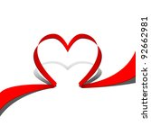 ribbon red heart. part of heart ... | Shutterstock .eps vector #92662981