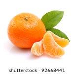 tangerine on white ground | Shutterstock . vector #92668441