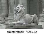 Lion At The Ny Public Library