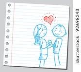 couple in love | Shutterstock .eps vector #92698243