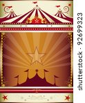 wonderful circus background. an ... | Shutterstock .eps vector #92699323