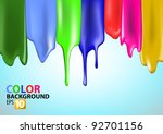 colorful bright paint splashes... | Shutterstock .eps vector #92701156