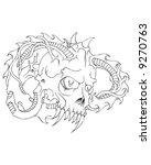 horned skull | Shutterstock .eps vector #9270763