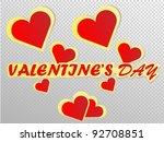 stickers valentine's day | Shutterstock .eps vector #92708851