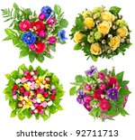 colorful flowers bouquet | Shutterstock . vector #92711713