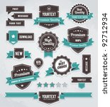 Vector set of retro labels, buttons and icons. | Shutterstock vector #92712934
