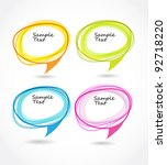 background of abstract talking...   Shutterstock .eps vector #92718220