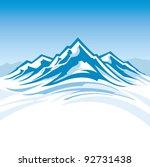 mountain range | Shutterstock .eps vector #92731438