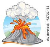 volcano | Shutterstock .eps vector #92731483