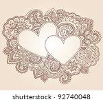 hearts henna mehndi valentine's
