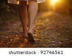 young female legs walking... | Shutterstock . vector #92746561