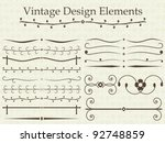 vintage design elements | Shutterstock .eps vector #92748859