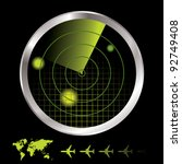 aircraft radar for airport with ...   Shutterstock .eps vector #92749408