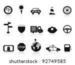 black traffic icon