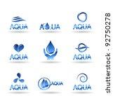 Set Of Water Design Elements....
