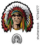 indian chief | Shutterstock .eps vector #92766577