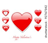 vector heart shape set | Shutterstock .eps vector #92767342