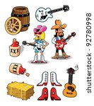 country western   Shutterstock .eps vector #92780998
