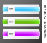 set of colorful vector banners | Shutterstock .eps vector #92781940