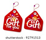 Gift collection labels. - stock vector