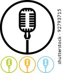 microphone. on air   vector icon | Shutterstock .eps vector #92793715
