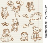 Hand Drawn Toys Collection In...