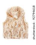 Beige Fur Vest Women Isolated...