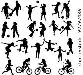 group of active children  hand... | Shutterstock .eps vector #92797486