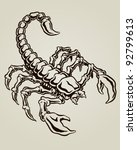 scorpion vector illustration | Shutterstock .eps vector #92799613