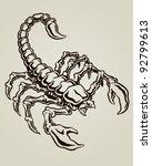 scorpion vector illustration | Shutterstock .eps vector #92799613