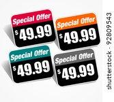 special offer sticker | Shutterstock .eps vector #92809543