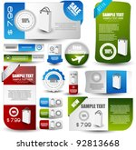 hi quality web elements for... | Shutterstock .eps vector #92813668