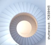Spiral Stair. 3d Render Of...