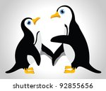 vector illustration of  couple... | Shutterstock .eps vector #92855656