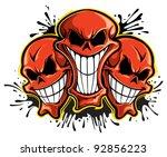 skulls | Shutterstock .eps vector #92856223