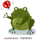 Illustration Of Isolated Frog...
